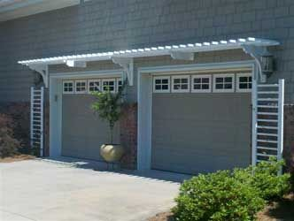 Pergola Above Garage Doors Home Decor Pinterest Garage Garage