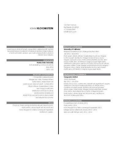 internship resume sample 2 - Internship Resume Examples