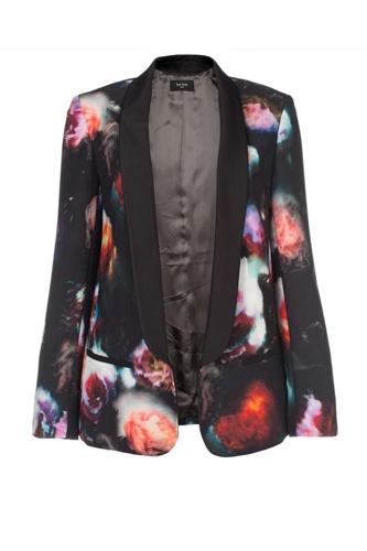 paulsmith electric peony print tuxedo jacket