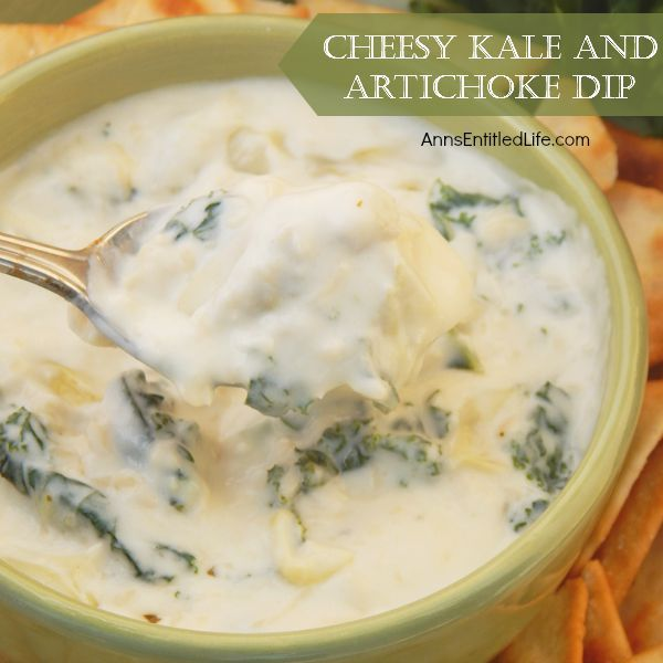 , cheesy, delicious kale and artichoke dip recipe is simple and fast ...