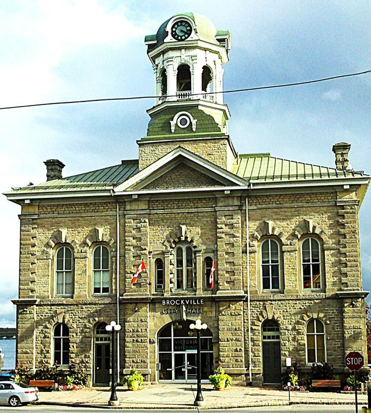 Brockville CITY HALL  --  formerly known as 'Victoria Hall'  --  1 King St., Brockville, ON  -- built 1862-64