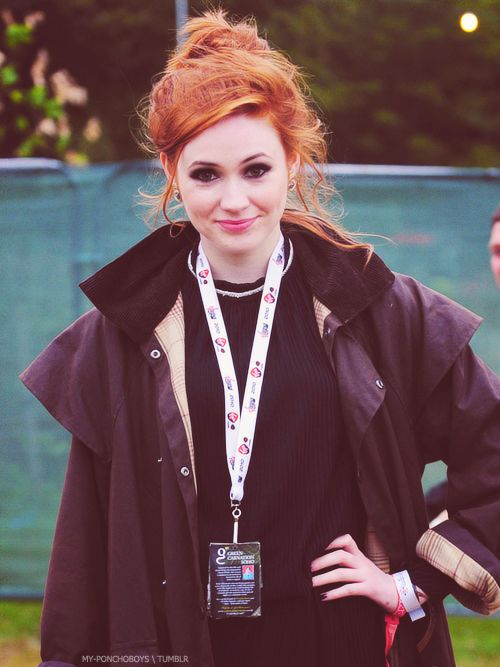 Karen Gillan! Confession: Sometimes I seriously miss being ginger.