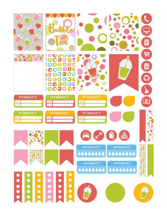 Day Planner Stickers Pack, Perfect for your Commit30 2017 ...
