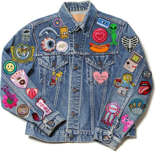 Want a nice denim jacket with cute patches. Not as much as this one though, kinda overdoing it