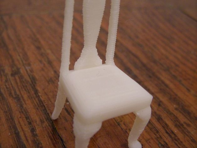 Miniature Queen Anne Chair by PrettySmallThings - Thingiverse