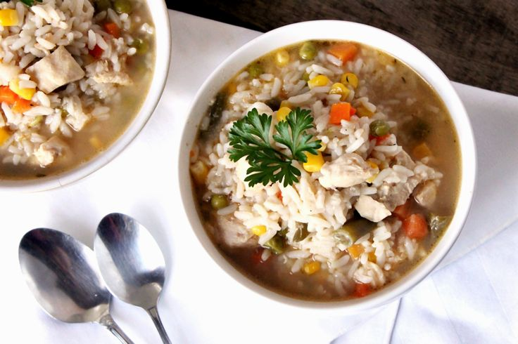 Hearty Chicken and Rice Soup | Recipe | Rice Soup, Pick Me Up and Rice