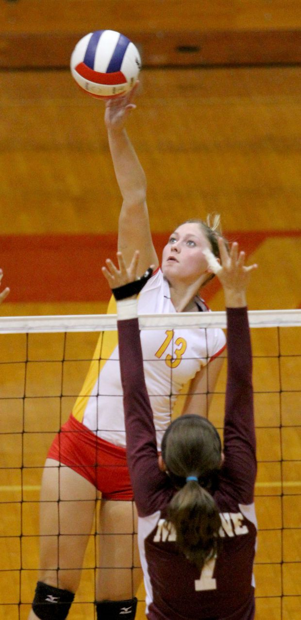 Rocks send message with sweep of maroons in western big six volleyball