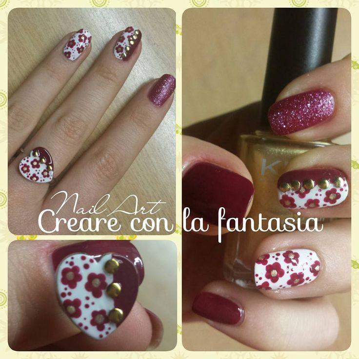Abbinare smalto ad anello... ringbow #nailart #smalto #unghie #nails #dotter #flowers #ringbow