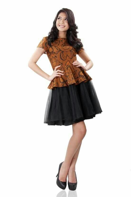 Batik dress (batik and black tutu)