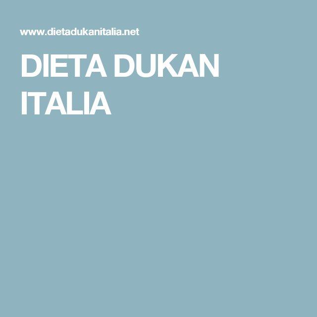DIETA DUKAN ITALIA