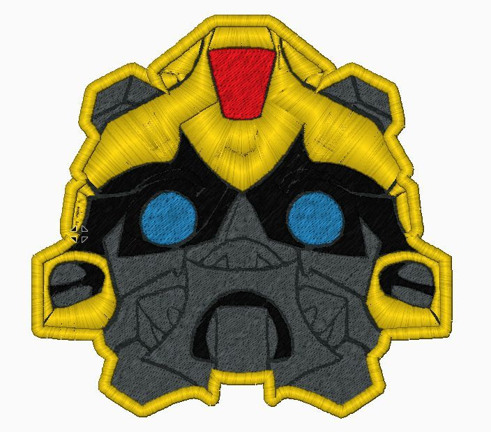 Transformer BumbleBee Embroidery Applique Design