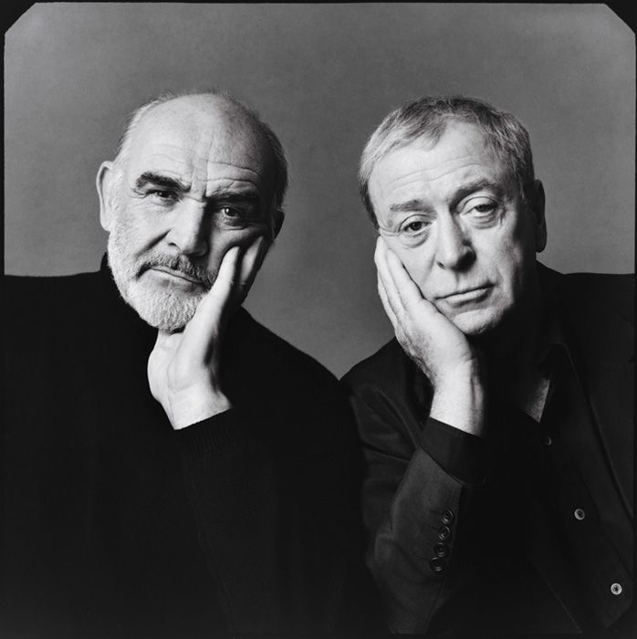 Sean Connery and Michael Caine by Annie Leibovitz