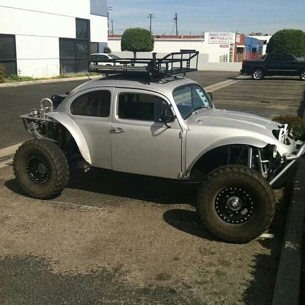 Vw bug Baja. The new Beetle w/front engine could work too.  great toy.