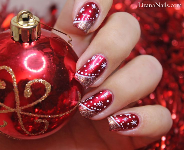 cheap jordan bridesmaid dresses Christmas Nail Design