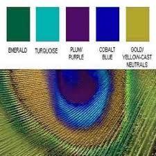 peacock decor color palette - Google Search                                                                                                                                                                                 More
