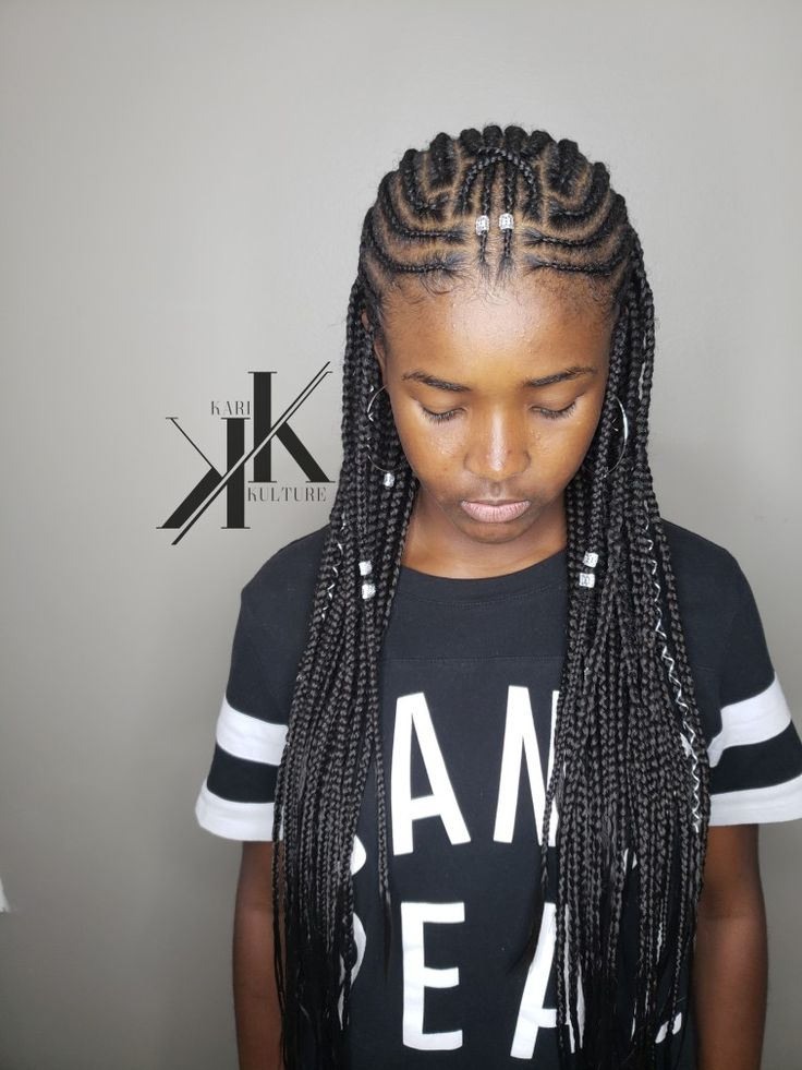 fulani tribal box braids long hair