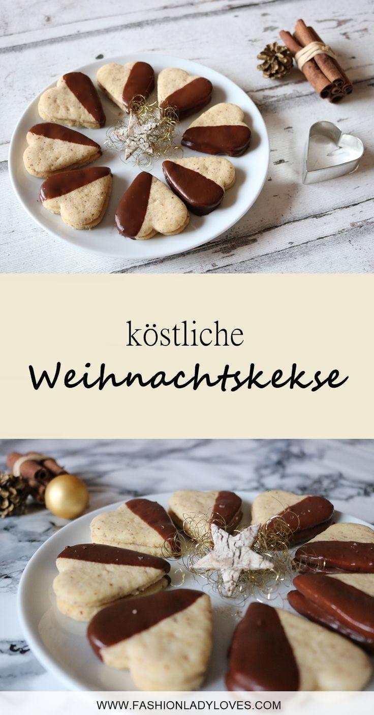 Weihnachtskekse die schmecken wie bei Oma. Ein einfaches Rezept für köstliche Weihnachtskekse mit Marmelade und Schokolade.