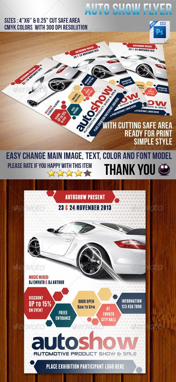Best Car Flyer Images On   Flyer Template Flyer
