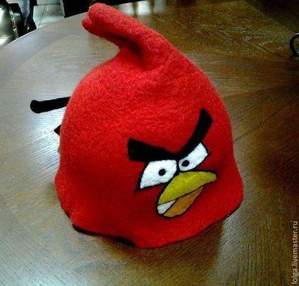Банные принадлежности ручной работы. Angry Birds. Lelia (Ольга). Интернет-магазин Ярмарка Мастеров. Подарок, банные принадлежности, шерсть