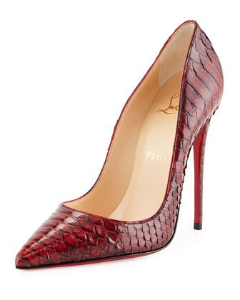 So Kate Python Red Sole Pump, Red by Christian Louboutin at Neiman Marcus.