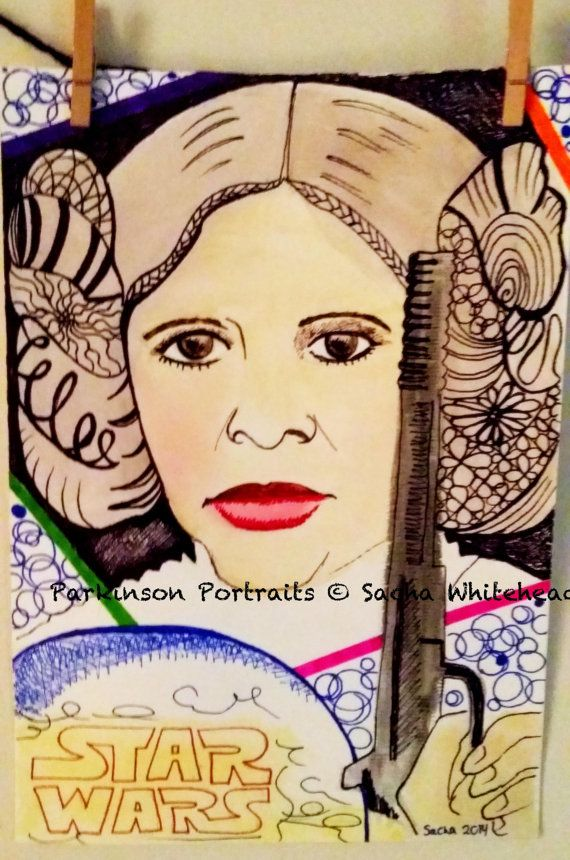 Star Wars Art  Princess Leia Artwork  by ParkinsonPortraits, $80.00