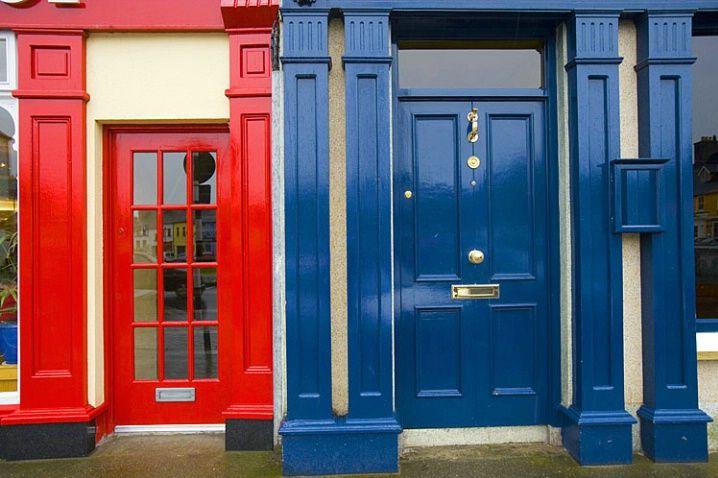 Colorful doors in Westport, Ireland