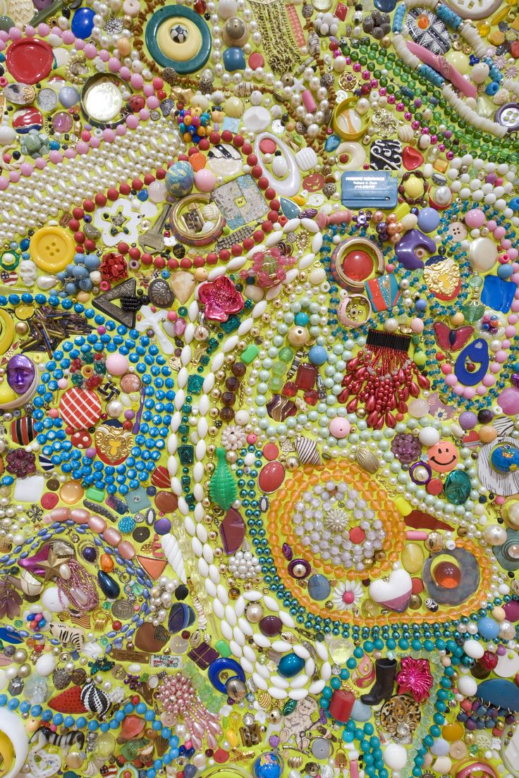 Mike Kelley, Memory Ware Flat # 41, 2003 (detail). Mixed media on panel.
