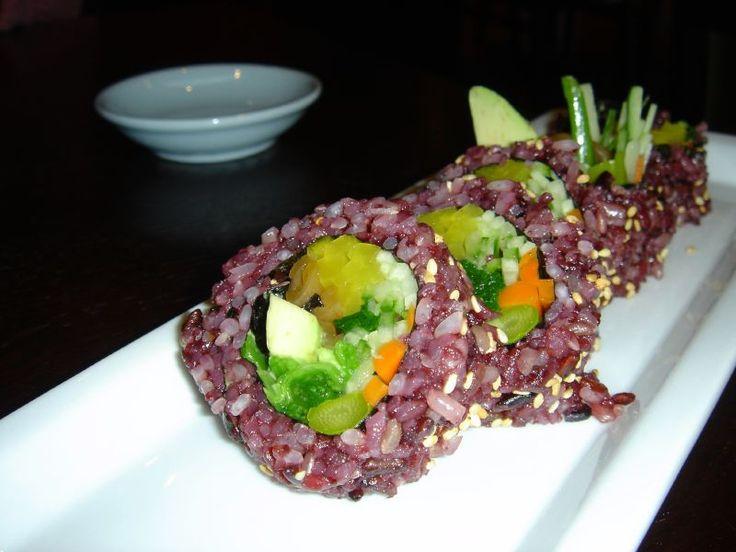 Multigrain rice veggie roll.