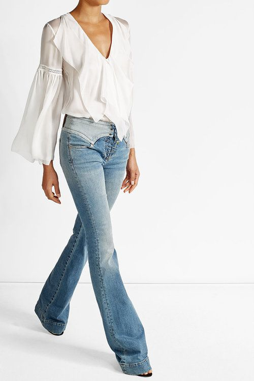 Lace-Up Flare Jeans | Roberto Cavalli