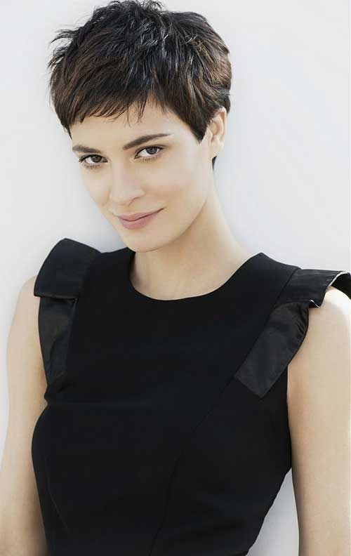 Textured Dark Hair Pixie