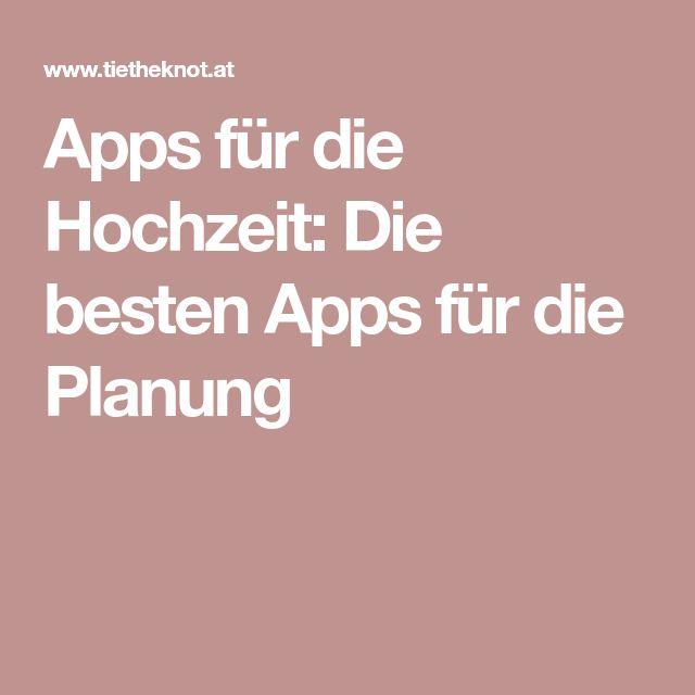 Apps für die Hochzeit: Die besten Apps für die Planung