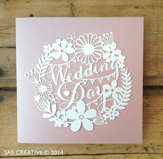 Papercut Template 'Wedding Day' PDF Jpeg SVG Make Your Own DIY Celebration Cards from Samantha's Papercuts