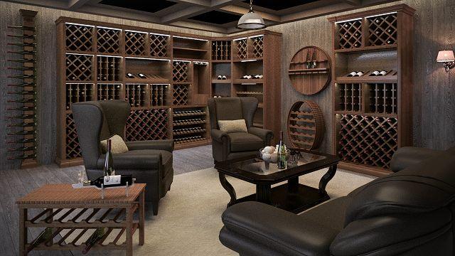 Классические шкафы и мебель для хранения вина. Секреты из Италии.