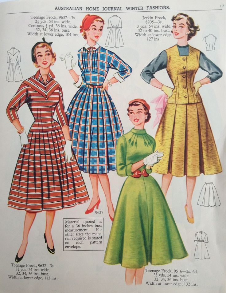 Australian home journal 50 39 s fashion 50s clothes for Fashion for home