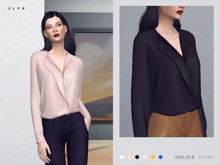 The Sims 4 Goldie Shirt (Mesh) by SLYD Available at The Sims Resource DOWNLOAD ** 6 swatches.** New mesh by me.** Recolor is allowed but PLEASE DO NOT include the mesh. Link to this page instead.** Make sure your game is up to date to find it in game.** CC list in creator notes Creator Notes Black pants – toksik / Brown shorts – GreenApple18r / Hair – JAKEA Credits: Black pants – toksik / …