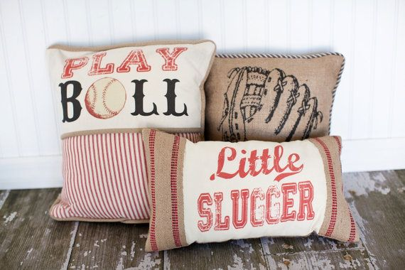 Play Ball Baseball Decorative Pillow Cover