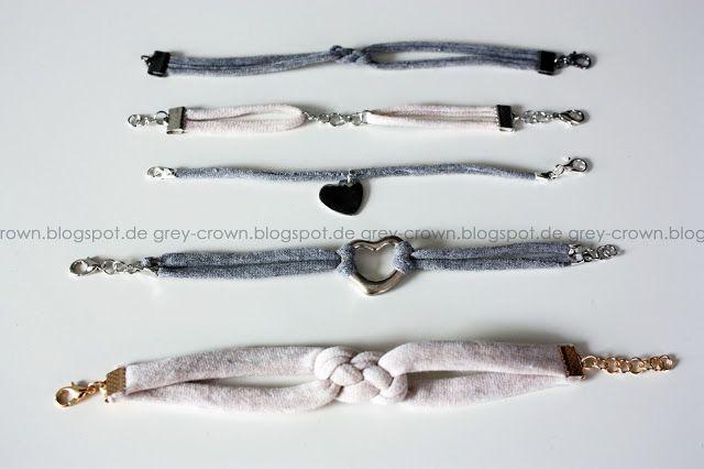 grey crown: DIY: Upcycling Armbänder aus alten T-Shirts #2