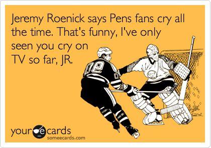 homemade somee card, bwhaha. #Pens #hockey