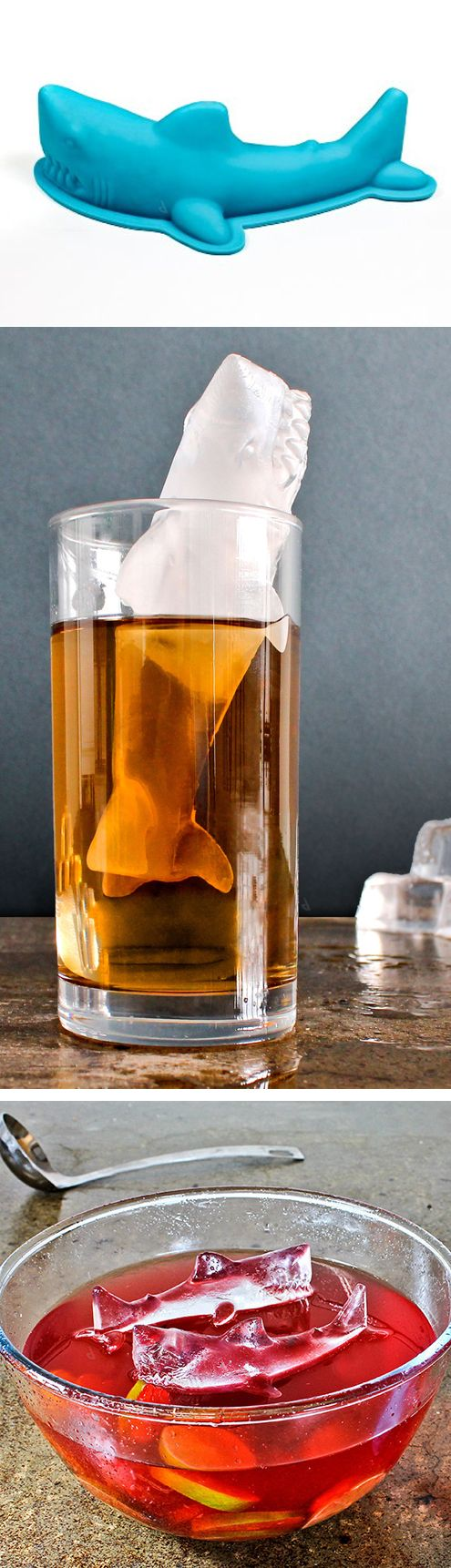 Shark ice mold // have Jaws swimming in your drink! #product_design