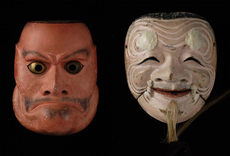 Noh mask. Japanese traditional arts.