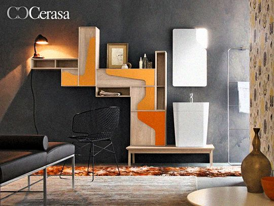 Italian Bathroom, Vintage Colors, Ambra, The Heat, Terracotta, Marble Tile  Bathroom, Lighted Mirror, Mirrors, Bathrooms