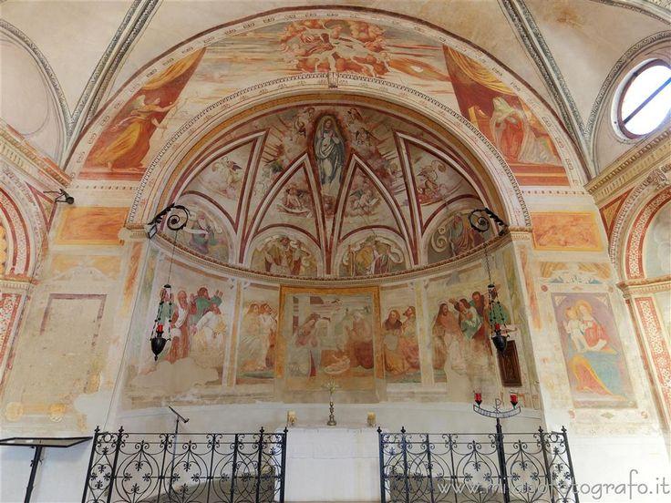 #vimodrone (#Milano #Italy) - Apse of the #Church of Santa Maria Nova al Pilastrello #visititaly discoveritaly #renaissance #rinascimento #artinitaly #italianart #architecture #Lombardia