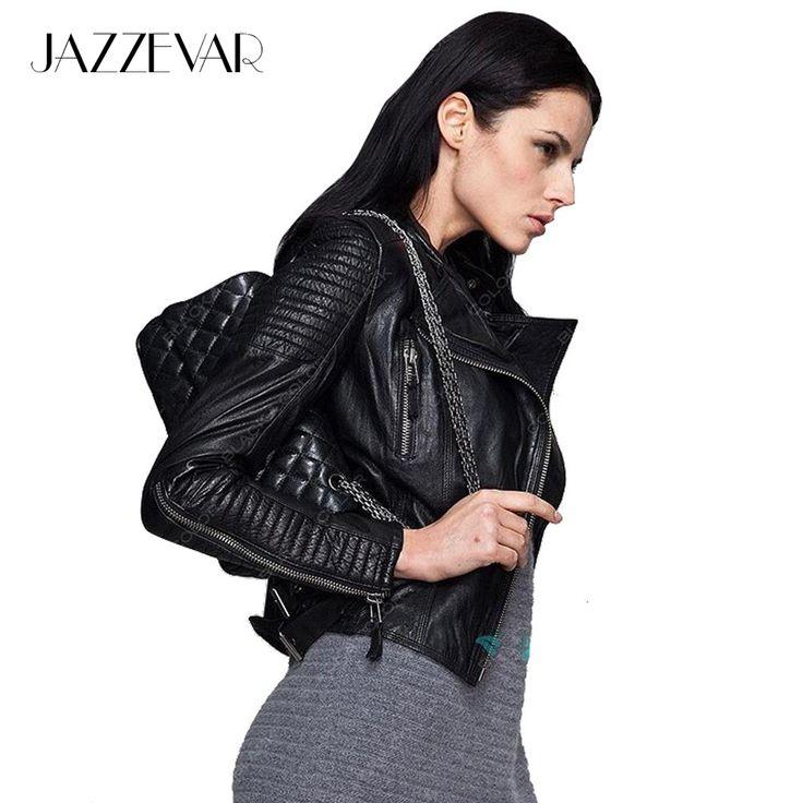 Натуральная Кожа 2016 осень новый высокой уличной Моды стиль бренда Женщин натуральная Кожа Короткая Куртка Мотоцикла Верхняя Одежда высшего качества купить на AliExpress
