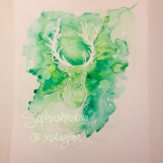 The deer...