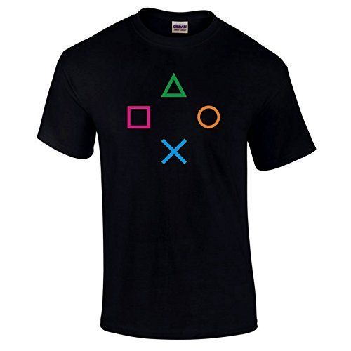 From 10.95 Playstation Ps2 Ps3 Ps4 Controller Gaming Gamers Video Game T-shirt Choice Of Colours S-5xl - Black - Large