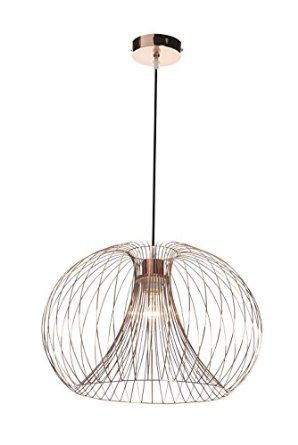 Contemporary modern copper wire ceiling pendant chandelier light shade