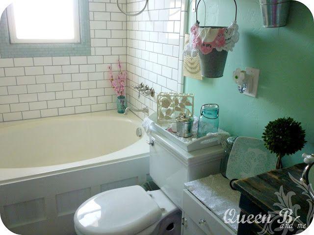 Bathtub Remodel  (love the beadboard on the tub)