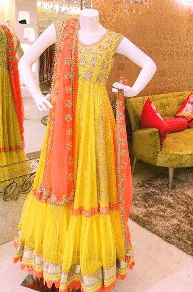 Pakistani Mehndi Dresses With Price For girls