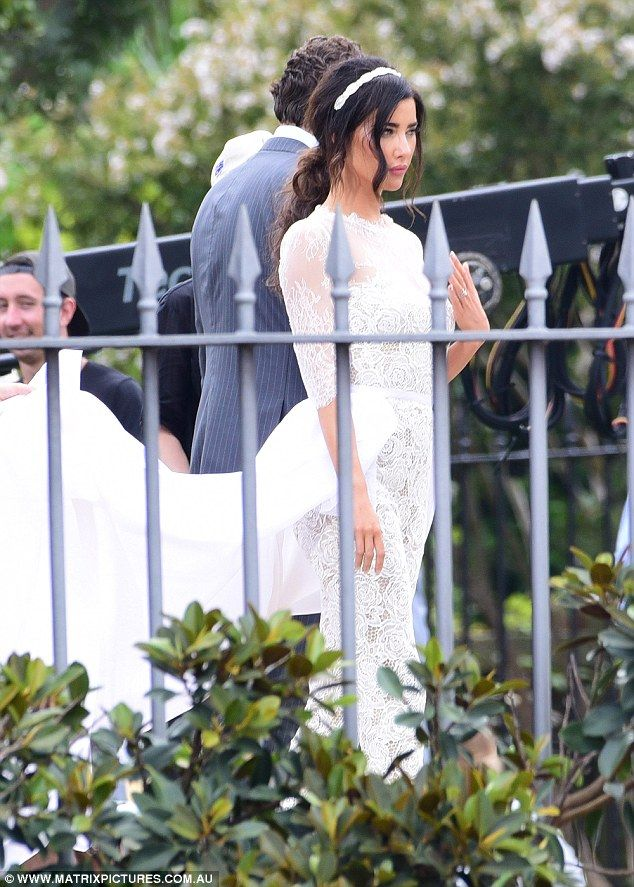 Drama Down Under! The cast of The Bold And The Beautiful gathered on Sydney's Bennelong Lawn to film the wedding of Steffy Forrester (Jacqueline McInnes Wood) to Liam Spencer (Scott Cliffton) on Valentine's Day