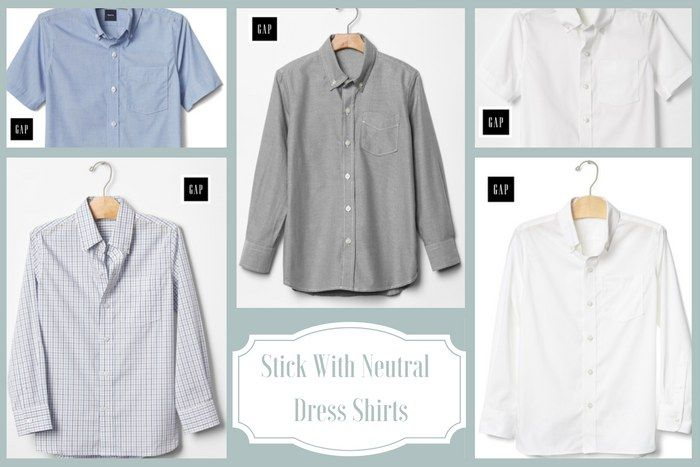 DO: Dress shirts in light, neutral colours and subtle patterns are appropriate funeral attire for boys. #loveliveson